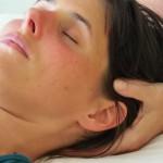 Craniosacrale Balance Anwendung am Kopf